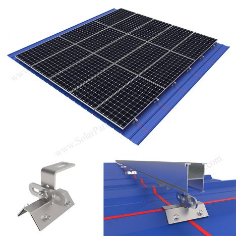 Trapezoidal metal roof with clamps, SPC-RF-CK02-HR