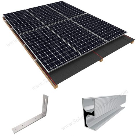 solar shingle mounting system