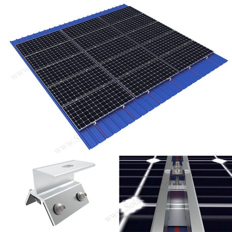 rail-less solar roof mounting system