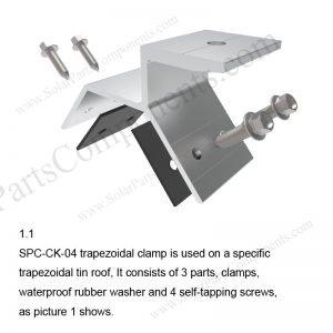 Solar Metal Roof Clamp Installation-SPC-CK-04-1.1