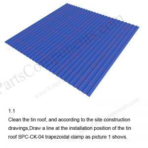 Solar Metal Roof Installation-SPC-RF-CK04-HR-1.1