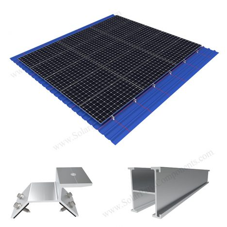 solar metal roof mounting with clamps