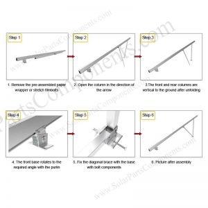 Solar Ground Installation-SPC-GA20-4H-CA-Step-1