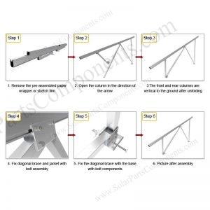 Solar Ground Installation-SPC-GA20-4H-CW-Step-1