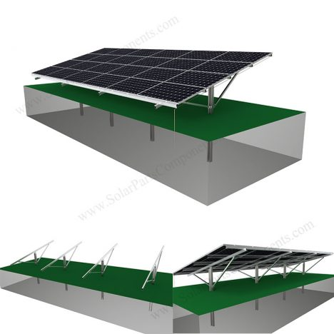 Solar panel single pile ground mounting system