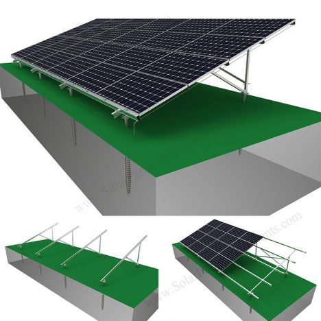 solar ground mounting structure quick installation