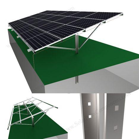 Solar Pillar Ground Mounting System,SPC-CA-4H-PCW