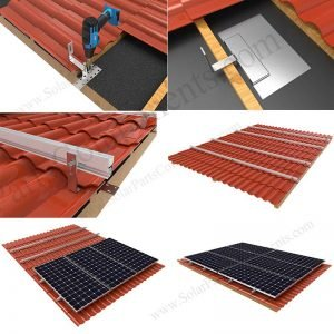 How to install solar panels on tile roof