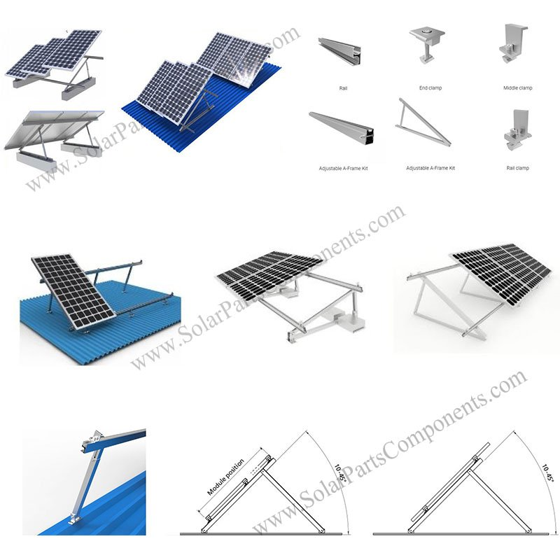 solar triangle support system, solar triangle mounting structure, solar triangular mounting system