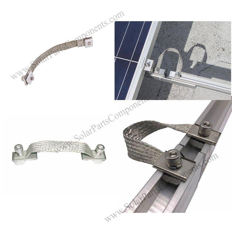bonding strap for solar mounts