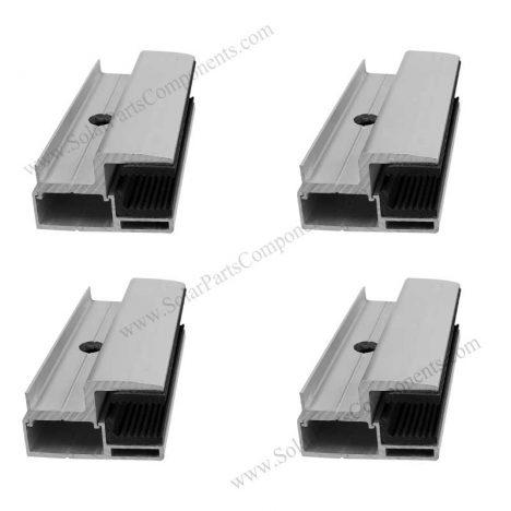 bifacial pv module end clamps