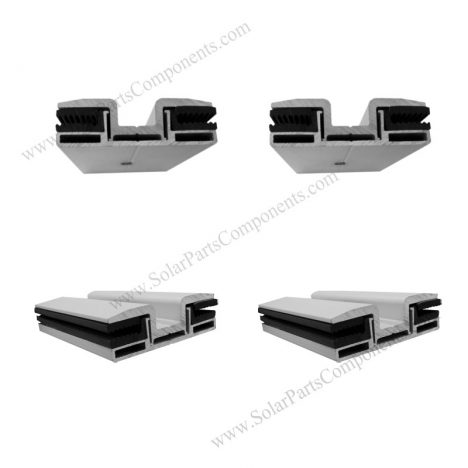 frameless solar panel mounting mid clamps